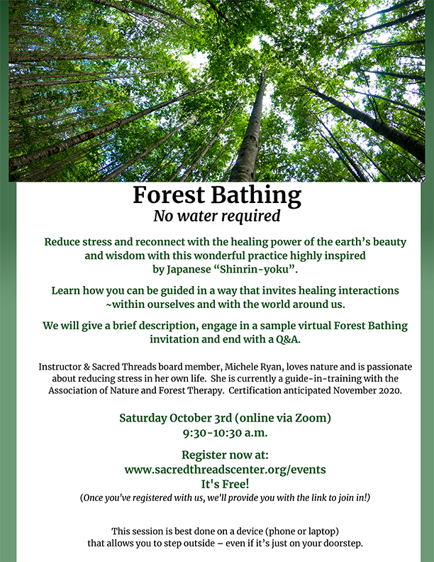 Forest Bathing Event 10/03/20